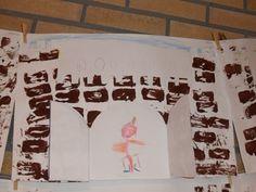 jufjanneke.nl - Ridders, jonkvrouwen en kastelen kasteel stempelen en daarna tekenen Cosmetic Shop, Wolf, Too Cool For School, King Queen, Activities For Kids, Knight, Fairy Tales, Medieval, Kindergarten