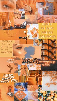 Iphone Wallpaper Yellow, Orange Wallpaper, Mood Wallpaper, Iphone Background Wallpaper, Retro Wallpaper, Wallpaper Quotes, Painting Wallpaper, Painting Canvas, Canvas Art