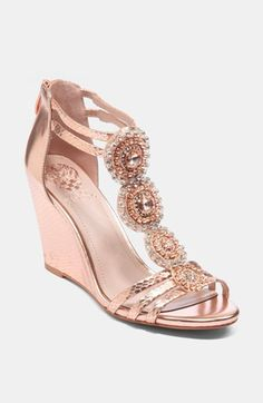 Hmmm..... reception shoes but in steel/pewter? Vince Camuto Zimily Sandal available at #Nordstrom