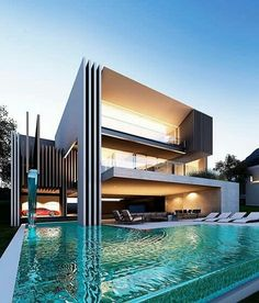 65 Great Backyard Pool Designs Ideas to Add Charm To Your Home pooldesign backyardpooldesign swimmingpooldesignideas updowny com is part of Modern architecture design - Modern Villa Design, Modern Architecture Design, Futuristic Architecture, Amazing Architecture, House Architecture, Water Architecture, Gothic Architecture, Sustainable Architecture, Chinese Architecture