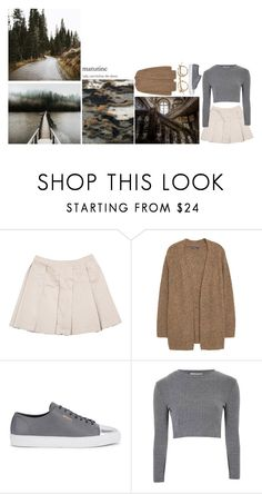 """"" by suspicious-peach ❤ liked on Polyvore featuring Miu Miu, Violeta by Mango, Axel Arigato and Glamorous"