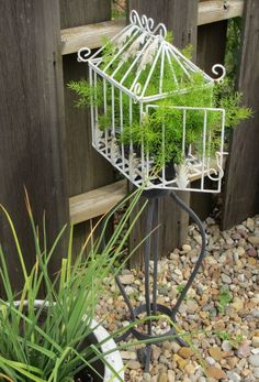 easy to do with new birdcage and plant stand, rust will come in one year in my climate