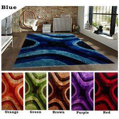8'x10' Feet Modern Contemporary Shag Shaggy Area Rug Carpet Rug