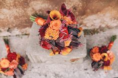 #weddingintuscany #bridalbouquet #fallcolors #orange #autumn #origtuscanwed #bouquets by #violamalva  Photo from Jo and Rob collection by Paula Broome Photography