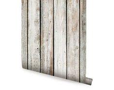 Adhesive wallpaper | Etsy Wood Wallpaper, Wallpaper Roll, Peel And Stick Wallpaper, Adhesive Wallpaper, Wood Plank Walls, Wood Planks, Peel And Stick Wood, Standard Wallpaper, Thing 1
