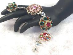 UpCycled Vintage Jewelry Bracelet 8 by WhimsicalAddictions on Etsy