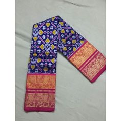 Navy Blue Pochampally Ikkat with Kanchipuram saree