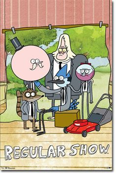 Regular Show Poster... This cracks me up how everyone's touching haha