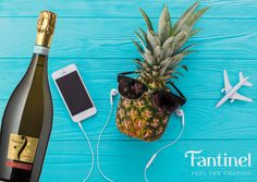 Everything ready for a #fantastic #summer ✌️ #Fantinel #Prosecco #wine #winetime #bubbles #phone #fruit #fresh #sunglasses #sun #hot #relax #plane #travel #enjoy  (original pic designed by Freepik)