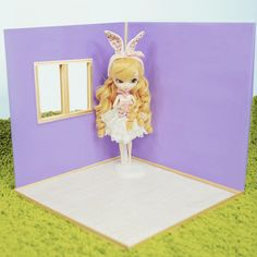 """In-stock* 1:6 Purple Foldable Diorama Doll House 40 x 40 x 40 cm. Suitable for Pullip, Neo Blythe, Barbie and any 12"""" Dolls"""