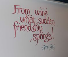 wine sayings from the bathroom at Villa de Monnatre by kkimpel, via Flickr