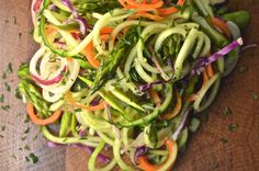 Spiralized Summer Slaw with Mint