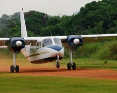 10 seat Islander aircraft on take off