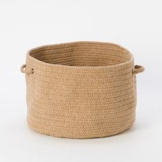 Braided Wool Basket in House + Home Baskets + Utility at Terrain