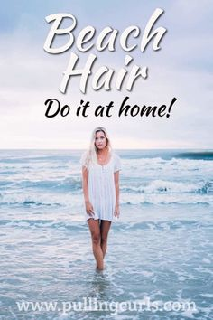 This ocean water spray for curly hair is an easy DIY way to get beach curls at h., Hairstyles, This ocean water spray for curly hair is an easy DIY way to get beach curls at home! Source by pullingcurls. Sea Salt Hair, Sea Salt Spray For Hair, Beach Curls, Beach Hair, Beach Waves, Hair Frizz, Curls Hair, Dry Hair, Curled Hairstyles