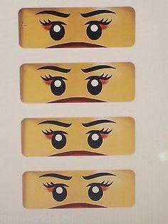 "LEGO ""NYA"" NINJAGO BIRTHDAY PARTY FAVORS ""EYES"" Perfect for balloons, goody bags on eBay!"