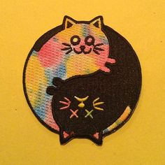 Cool #patch from @easilyamusednyc available with lots of other #pins and #patches in his store now. .  Shop link is in his bio. .  #easilyamusednyc #patchgame #catsofinstagram #embroideredpatches #embroideredpatch #patches by patchgame