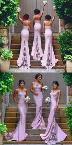 Proposal Ideas flowers pink bridesmaid dresses with spaghetti straps, long bridesmaid dresses mermaid -. pink bridesmaid dresses with spaghetti straps, long bridesmaid dresses mermaid - Mermaid Bridesmaid Dresses, Mermaid Dresses, Wedding Bridesmaids, Prom Dresses, Dress Prom, Lilac Bridesmaid, Dance Dresses, Long Dresses, Mermaid Mermaid