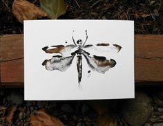 Dragonfly no.1  watercolor abstract modern by KianaMosleyArt
