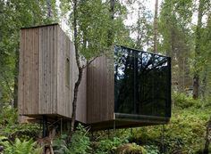 The Juvet Landscape Hotel was designed by Jensen & Skodvin Arkitektkontor, and is located in the heart of a picturesque forest, on the banks of the river Valdolla, in Norway.Each room is a detached small independent house with one, or sometimes two of the walls constructed in glass. The landscape in which these rooms are placed is by most people considered spectacularly beautiful and varied and the topography allows a layout where no room looks at another. In this way every room gets its…