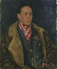 Squadron Leader George L. Denholm (1909–1997), DFC, 1940 by Thomas Cantrell Dugdale (British 1880–1952)