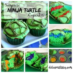 If you love the Teenage Mutant NInja Turtles, then you'll love these Surprise Ninja Turtle Cupcakes. Easy to make an so much fun! Who will you get?!