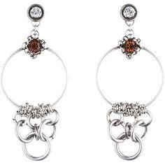 DANNIJO Kira ($295) ❤ liked on Polyvore featuring jewelry, earrings, oxidized jewelry, hoop earrings, dannijo earrings, dannijo and swarovski crystal hoop earrings