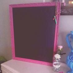 Vintage framed blackboard, hot pink By pumkinvintage