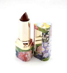 Zalan Lipstick Black Berry with Mirror Floral Case Aloe Vera & Vitamin E Lip NEW #Zalan