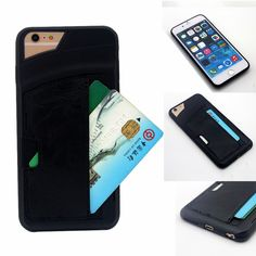 For Iphone 5 5s SE /6 6S/6 6s plus Luxury Shockproof TPU+Leather Credit Card Holder Stand Wallet Back Case Cover #clothing,#shoes,#jewelry,#women,#men,#hats,#watches,#belts,#fashion,#style