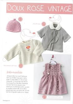 Album Archive - IDEAL N°161 Baby Knitting Patterns, Free Knitting, Rose Vintage, Girly, Crochet Clothes, Clothing Patterns, Knit Crochet, Archive, Sweaters
