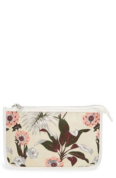 Maison Scotch Floral Print Canvas Cosmetics Bag available at #Nordstrom