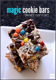 This cookie bar has many names...magic, everything, seven layer, mommy-crack. But in my mind, it is the Disney Copycat Magic Cookie Bar Recipe.