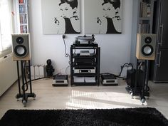 hifi room, two ikea posters