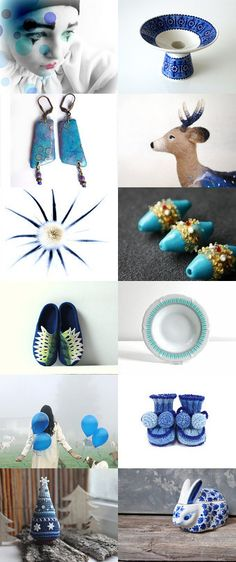 A blue kind of day by GaranceCouture on Etsy--Pinned with TreasuryPin.com