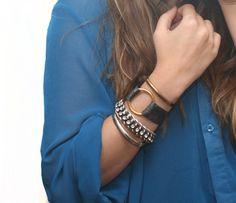 I Spy DIY: [my DIY] Leather Ring bracelet