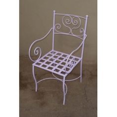 Chair Wrought Iron. Customize Realizations. 475 Outdoor Chairs, Outdoor Furniture, Outdoor Decor, Chair Bench, Wrought Iron, Home Decor, Decoration Home, Room Decor, Garden Chairs