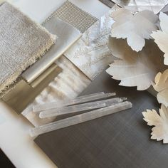 Loving these white and silver tones for a new scheme #inthestudio #samples #designprocess #interiordesign #laurahammett #luxuryinteriors