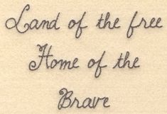 Land of the free home of the brave machine embroidery design