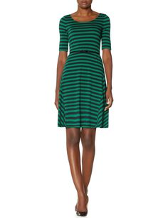 Bow belted stripe dress women s dresses the limited
