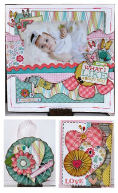 "Samples of what you can create with the ""What I Like About You"" MME paper kit. Designed by Jennifer Nicholes."
