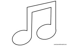 photograph relating to Music Note Stencils Printable identified as Pin by way of Muse Printables upon Printable Types at