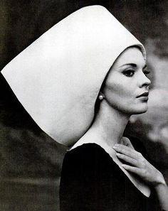 Jean Seberg, hat by Yves Saint Laurent, photo by Carlo Bavagnoli, 1963