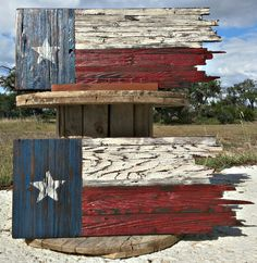 Tattered n Torn Texas Flag Wooden Texas by FreedomForgedDesigns