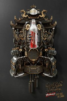 Budweiser: Cuckoo Clock, UFC | #ads #adv #marketing #creative #publicité #print #poster #advertising #campaign < repinned by www.BlickeDeeler.de | Have a look on www.Printwerbung-Hamburg.de