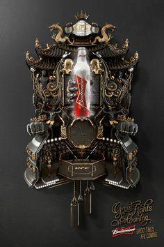 Budweiser: Cuckoo Clock, UFC   #ads #adv #marketing #creative #publicité #print #poster #advertising #campaign < repinned by www.BlickeDeeler.de   Have a look on www.Printwerbung-Hamburg.de