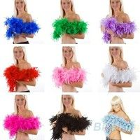 Wish | 2m Feather Boa Fluffy Craft Costume Dressup Wedding Party Home Flower Decor Gift