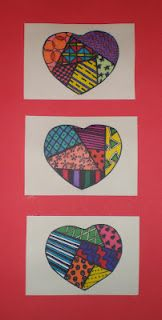Romero Britto Inspired Hearts