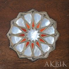 Arabesque Levantine inlay on walnut with mother of pearl. Door Design, House Design, Country Art, Arabesque, Islamic Art, Wood Art, Sea Shells, Woodworking, Pearls