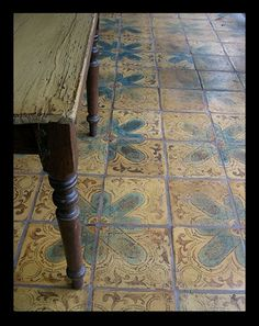 Tabarka Tile - Beautiful for an inlaid rug by the front door Floor Design, Tile Design, Floor Ceiling, Tile Floor, Tabarka Tile, Natural Flooring, Natural Area Rugs, Style Tile, Spanish Style